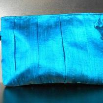 Brilliant Aqua Raw Silk Pleated Purse - Super Fashion - Hand Made 100% Quality Photo