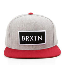 Brixton Clothing Rift Snapback Hat - Heather Grey/red - New Photo