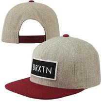Brixton Rift Snapback Adjustable Hat - Heather Gray Photo