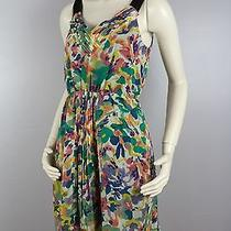 Broadway & Broome Sz 2 Madewell Silk Watercolor Sleeveless Dress Photo
