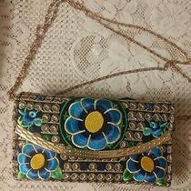 Brocade Lotus Bloom Clutch Photo