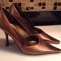 Bronze Metallic Heels by Bcbg Photo