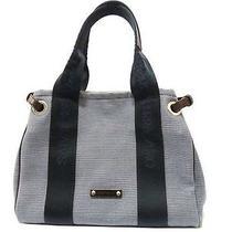 Brooch Salvatore Ferragamo Handbag Canvas Blue  0489 Photo
