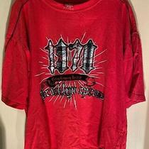 Brooklyn Clothing Co. Men's Short Sleeve T Shirt Size L Red Black Trim 1970 Photo