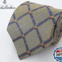Brooks Brothers 100% Silk Pure Silk Woven in Italy Gold Blue Sheep Logo Tie Usa Photo