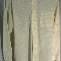 Brooks Brothers 346 Men's Dress Shirt Size 16 1/2  2/3 Non-Iron Reg. Fit Yellow Photo