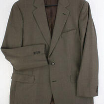 Brooks Brothers 346 Stretch Brown Wool Suit Coat Jacket Men's 44 L Long Photo
