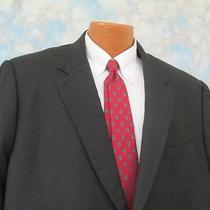 Brooks Brothers 45 R Black Cashmere Two Button Men's Blazer Sport Jacket Italy Photo