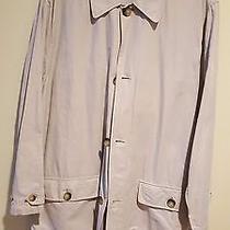 Brooks Brothers  Beige Solid Coat Jacket Size L Photo