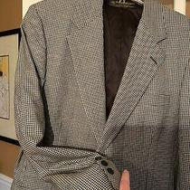 Brooks Brothers Black Houndstooth Mens Blazer Style 0152 Size 40  Photo
