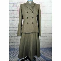 Brooks Brothers Blazer Skirt Suit Size 4 Brown Tan Photo