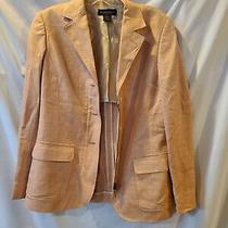 Brooks Brothers Blush Pink Silk and Linen Size 6 3 Button Blazer With Zipper Photo