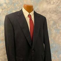 Brooks Brothers Brooksease 42 R Navy Blue Wool Two Button Men's Blazer Photo