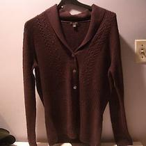 Brooks Brothers Dark Purple Wool Blend Cardigan Sweater Shawl Collar sz.l Photo