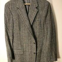 Brooks Brothers Gray Black Yellow Blazer Mens Dress 43l Photo