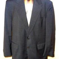 Brooks Brothers Gray / Navy Patterned Usa Made Men's 42 Regular Wool Suit Jacket Photo