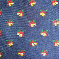 Brooks Brothers Holiday Jingle Bells Ribbon Christmas Silk Neck Tie Photo