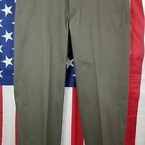 Brooks Brothers Khaki Hudson Advantage Chino Pants Flat Front 35x32 36x32 Photo