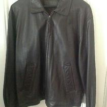 Brooks Brothers Leather Jacket Dark Brown Size M Photo
