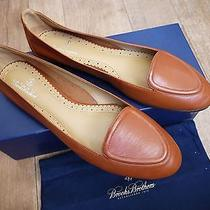Brooks Brothers Light Brown Leather Ballet Flats Size 39 Eu/85 Us New in Box Photo