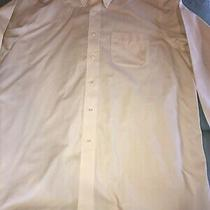 Brooks Brothers Ls Dress Shirt Ivory Pale Yellow 16 1/2 34/35 Photo