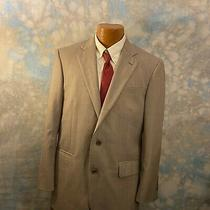 Brooks Brothers Madison Sz 40 R Tan Patterned Wool Two Button Men's Blazer Photo