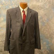 Brooks Brothers Madison Sz 43 R Gray Striped Wool Two Button Men's Blazer Photo
