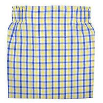 Brooks Brothers Men Blue/yellow Gingham Plaid Regular Fit Cotton Boxerxl 8434-7 Photo