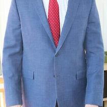 Brooks Brothers Men's Regent Blazer Jacket Wool Linen Silk Blue Solid 42l Photo