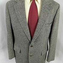 Brooks Brothers Men's Sport Coat Sz 42 R Black White Tweed Wool Blazer Jacket  Photo