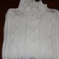 Brooks Brothers Men's Xl White Cable Sweater Photo