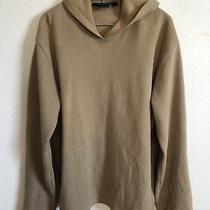 Brooks Brothers Mens Hooded Sweatshirt Large Cotton Brown /tan Sz Large Photo