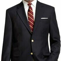 Brooks Brothers Mens Navy Blue Madison Fit Two Button Jacket Blazer 43r 0830-1m Photo
