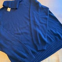 Brooks Brothers Navy Xl Cotton Turtleneck Sweater Photo