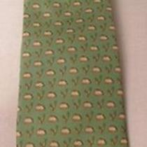 Brooks Brothers Pure Silk Green Novelty Tie Photo