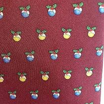 Brooks Brothers Red Christmas Holiday Tie 100% Silk Made in Usa Photo