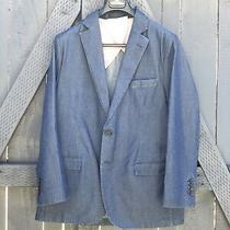 Brooks Brothers Red Fleece Denim Suit Jacket Chore Coat Blue New Sport Coat Photo