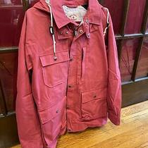 Brooks Brothers Red Fleece Mens Red Flannel Cargo Jacket Size Small Photo