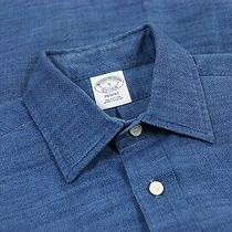 Brooks Brothers Regent Fit Mens Oxford Button Up Dress Shirt Blue Size S Photo