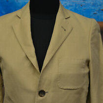 Brooks Brothers Size M Women's Two Button Blazer Beige Tan Linen Blend Jacket Photo