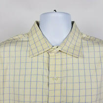 Brooks Brothers Slim Fit Non Iron Blue Yellow Check Mens Dress Shirt Size 17-35 Photo