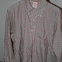 Brooks Brothers Striped Red Dress Shirt  16-3 Photo