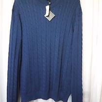 Brooks Brothers Supima Cotton Blue Cable Knitted Sweater Men Xxl