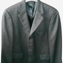 Brooks Brothers Vintage Black 100% Lambs Wool Mens Sport Coat Blazer Sz 40 Reg Photo