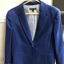 Brooks Brothers Women's One Button Collared Blazer Wool Royal Blue Size 14 Photo