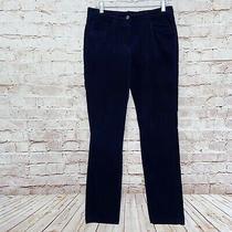 Brooks Brothers Womens Corduroy Natalie Jeans Straight Size 6 Dark Navy Blue Photo