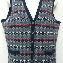 Brooks Brothers Womens L Argyle Lambs Wool Soft Knit Sweater Vest Top Photo