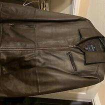 Brooks Brothers Xxl Brown Leather Jacket Great Condition Never Worn Photo