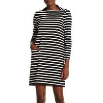Broome Street Kate Spade Everyday Shift Dress - Black/white Stripe Xxl-Worn 1x Photo