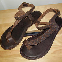 Brown Alice Fossil Sandals/shoes W/ Toe Ring/braided Straps Womens Size 5   Photo